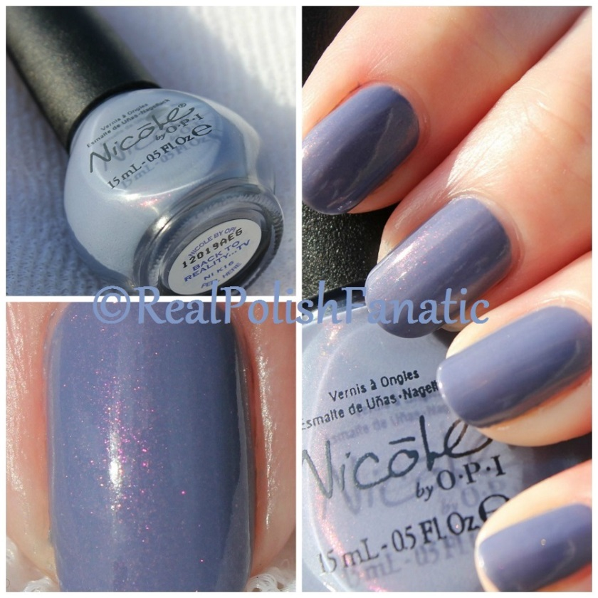 Nicole by OPI – Back To Reality…TV + Comparison with Sinful Colors ...