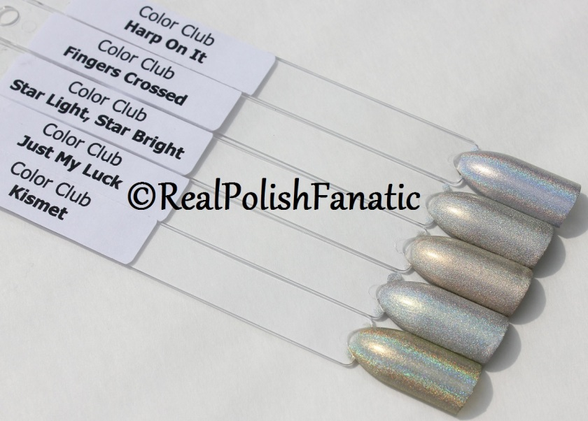 Color Club Halo Hues 2015 - Comparison