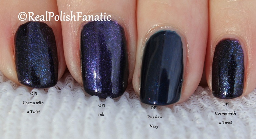 Comparison -- OPI Russian Navy, Cosmo With A Twist, Ink (1)