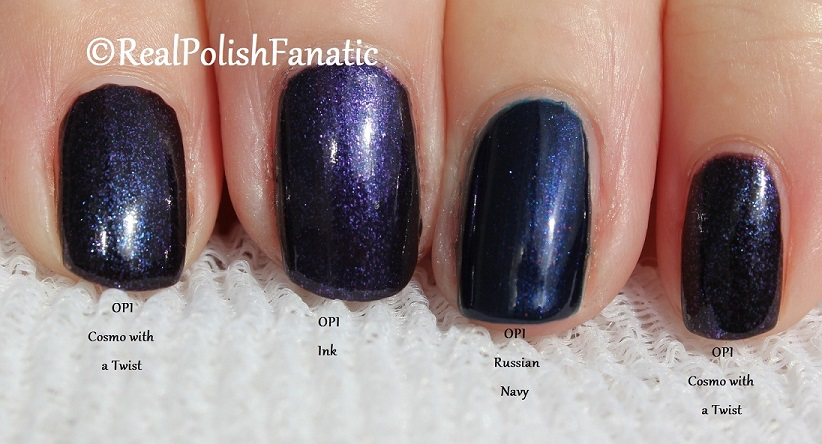Comparison -- OPI Russian Navy, Cosmo With A Twist, Ink (2)