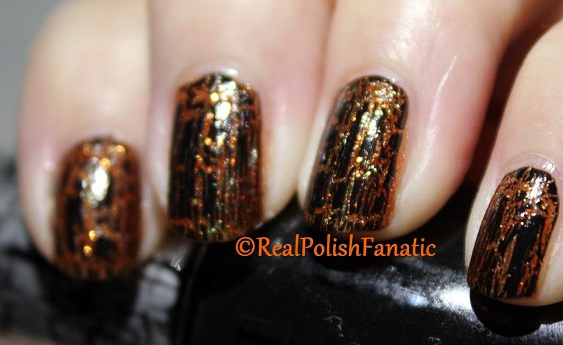Sally Hansen Sparktacular & OPI Black Shatter (2)