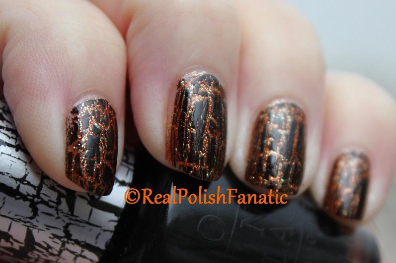 Sally Hansen Sparktacular & OPI Black Shatter (4)