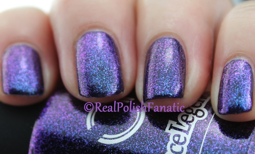 Dance Legend - Top For Dark Polish #608 over OPI - Sapphire In The Snow