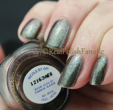 Nicole by OPI - For Gold Times Sake & NCLA Holos - From LA to Anywhere