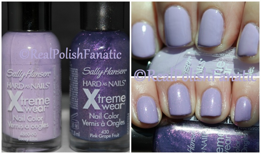 04-05-2016 Sally Hansen Xtreme Wear - Lacey Lilac & Pink Grape Fruit