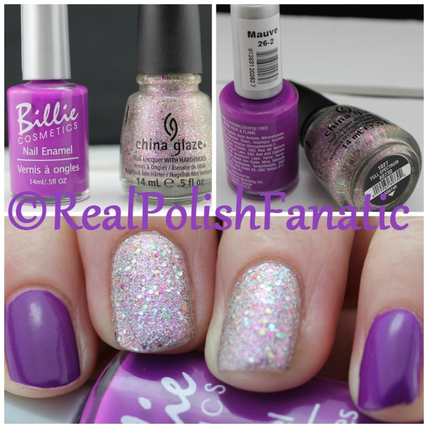04-29-2016 China Glaze - Full Spectrum & Billie Cosmetics - Mauve