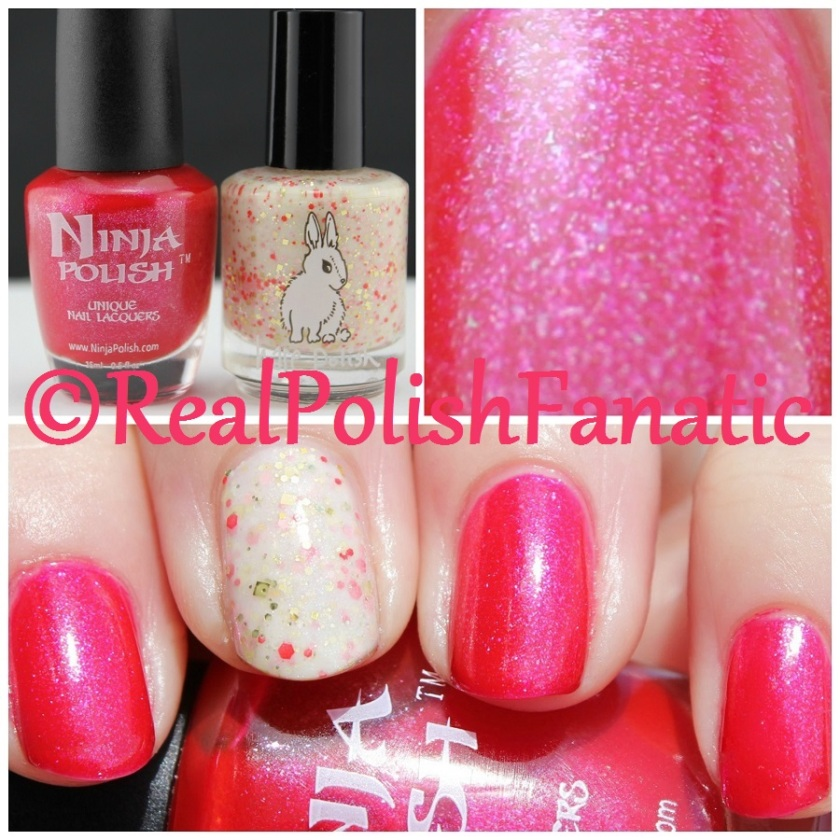 05-22-2016 Ninja Polish - Handful of Shimmer & Hare Polish - Let Them Eat...What?