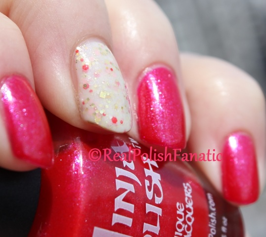 Ninja Polish - Handful of Shimmer & Hare Polish - Let Them Eat...What?