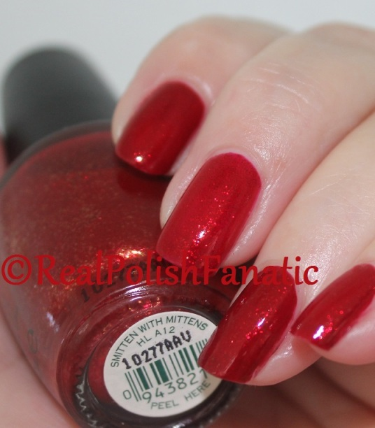 Comparison: OPI Smitten With Mittens & China Glaze Ruby Pumps