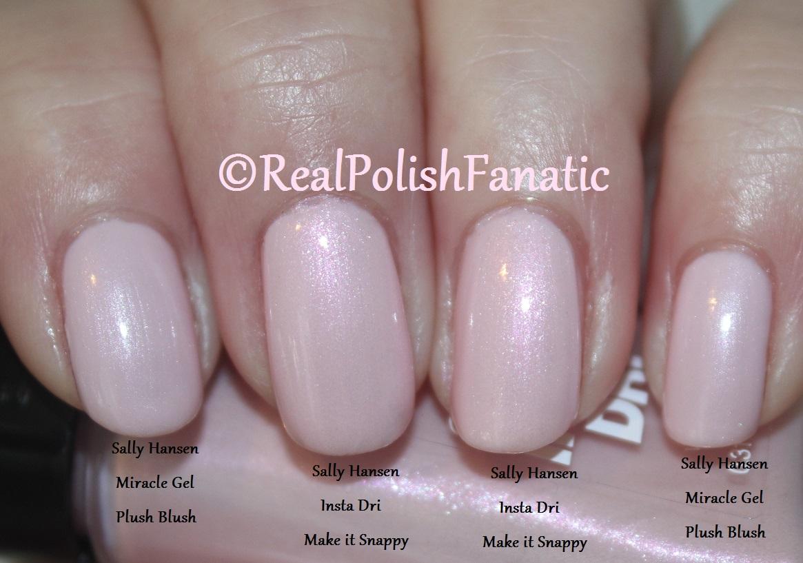c8867bca4c Sally Hansen Comparison:Miracle Gel Plush Blush VS. Insta Dry Make It  Snappy – RealPolishFanatic