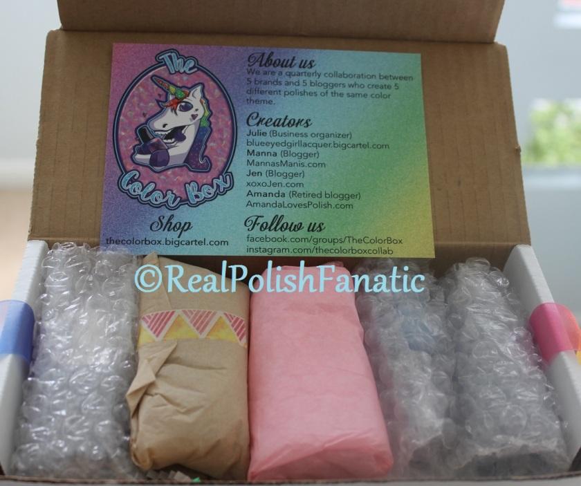 "04-08-2017 March 2017 ""The Color Box"" - Unboxing -- RealPolishFanatic"