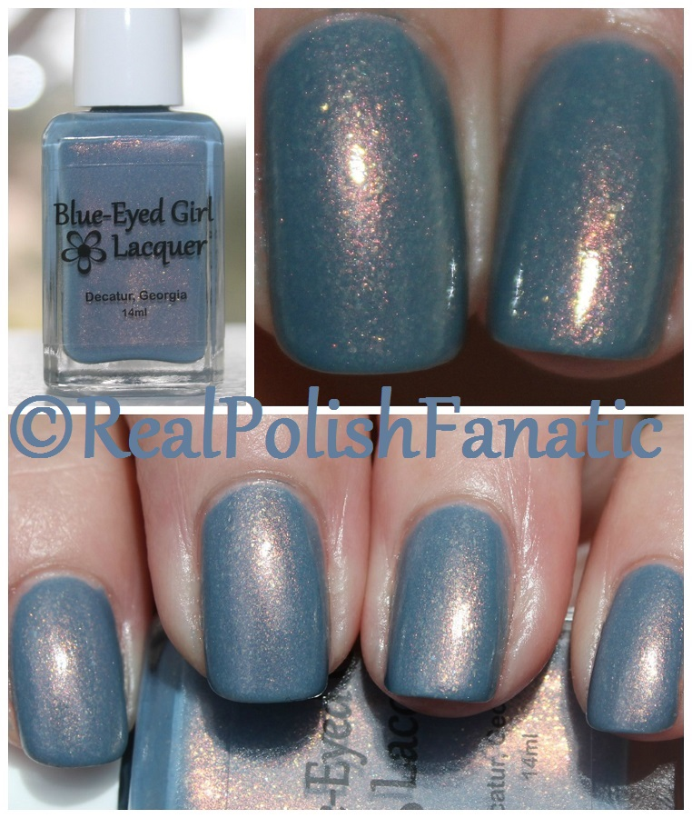 04-13-2017 Blue Eyed Girl Lacquer - Niagara Sunrise // March 2017 Color Box -- RealPolishFanatic