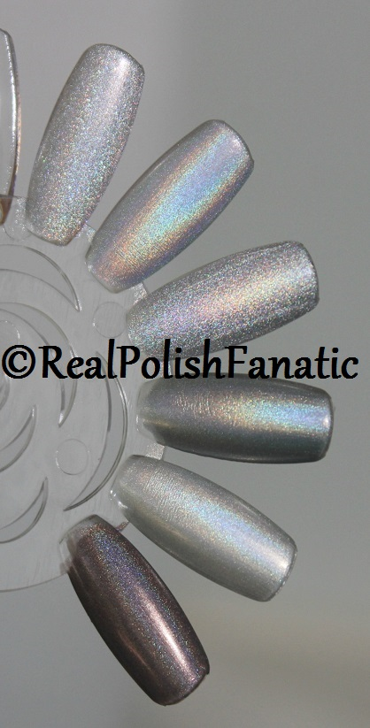 China Glaze Silver Holographic Comparison