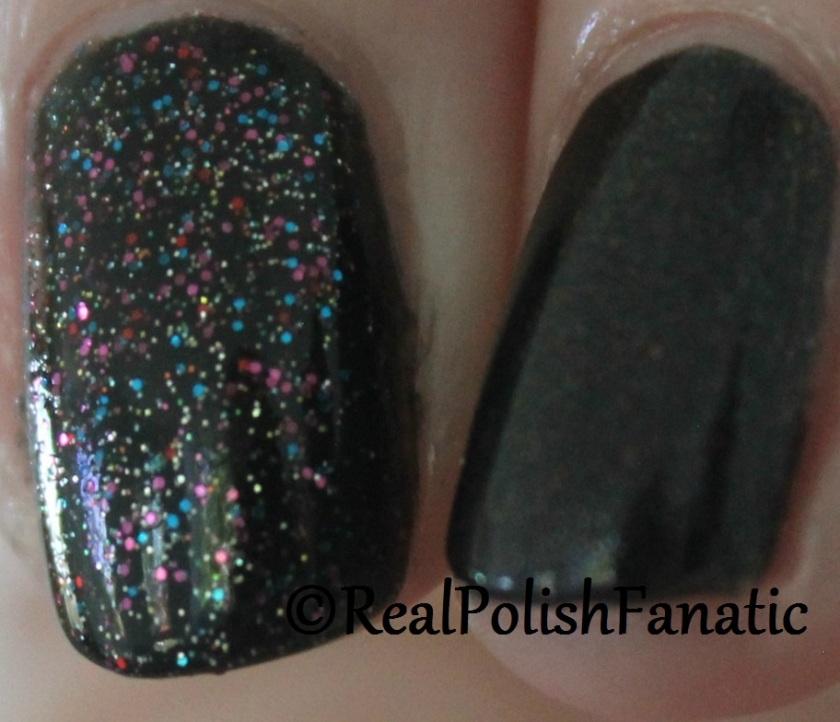 China Glaze Songbird Serenade & Butter London Black Knight Comparison