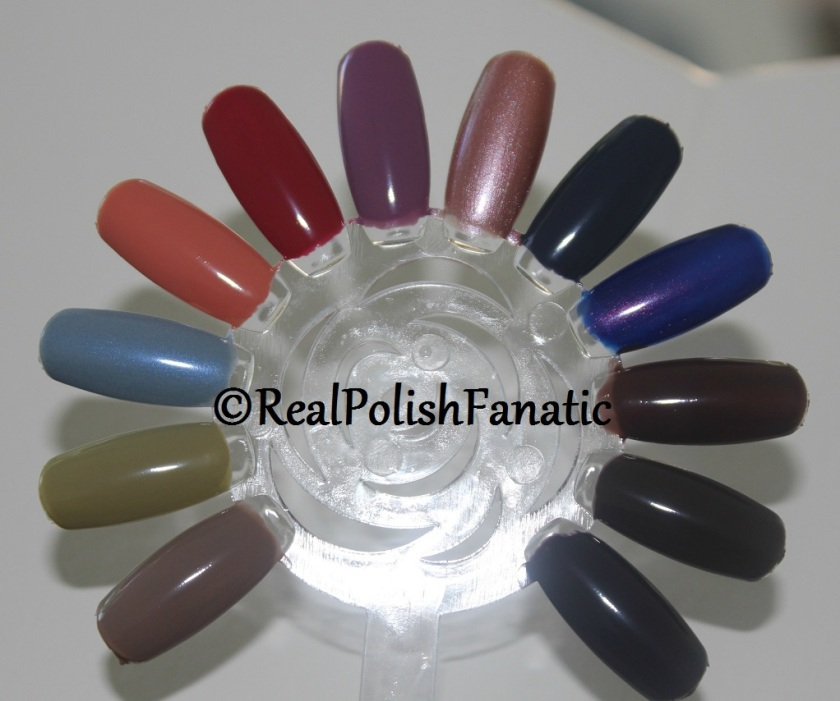OPI Iceland Collection Swatch Wheel