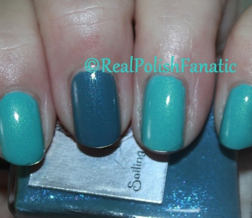 Sinful Colors - Kold Kash & Sea Lore Polish - Sailing the Seine
