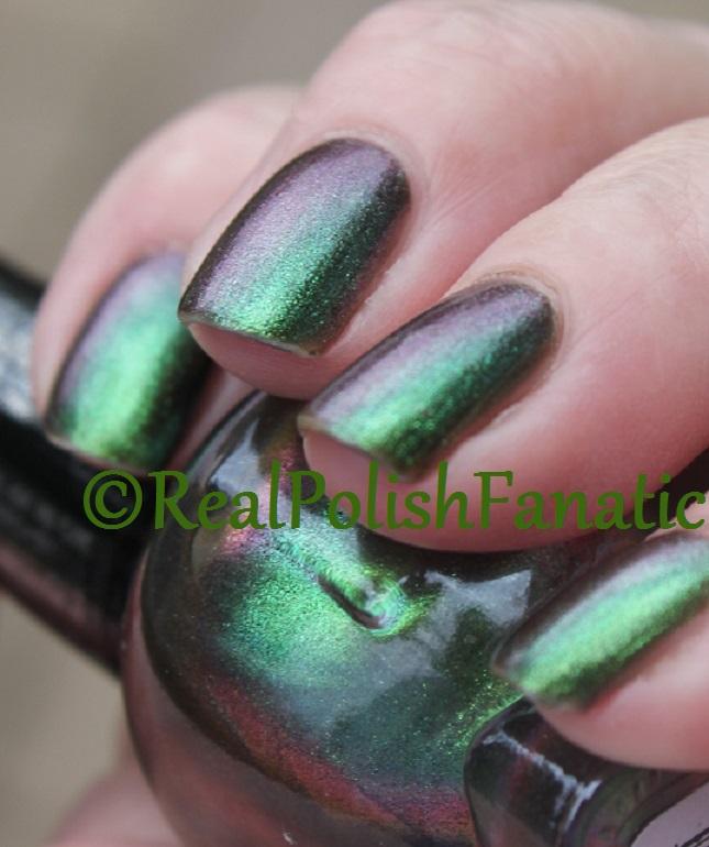 Black Heart Nail Polish: Green AB Iridescent // Hot Topic
