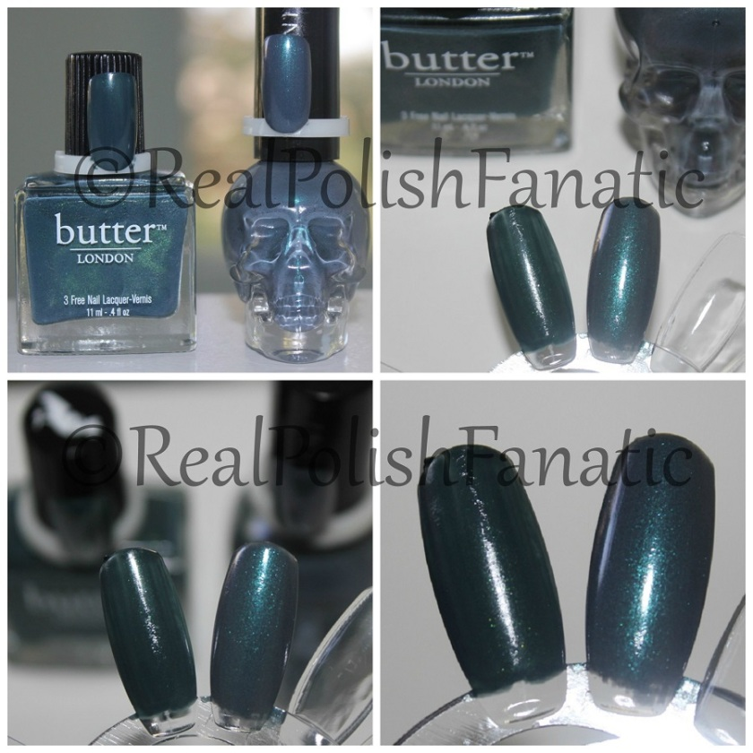 Comp Butter London Stag Do VS Blackheart Beauty Grey Iridescent