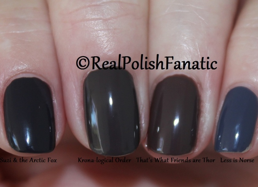 Comparison of 4 OPI Cremes (1)