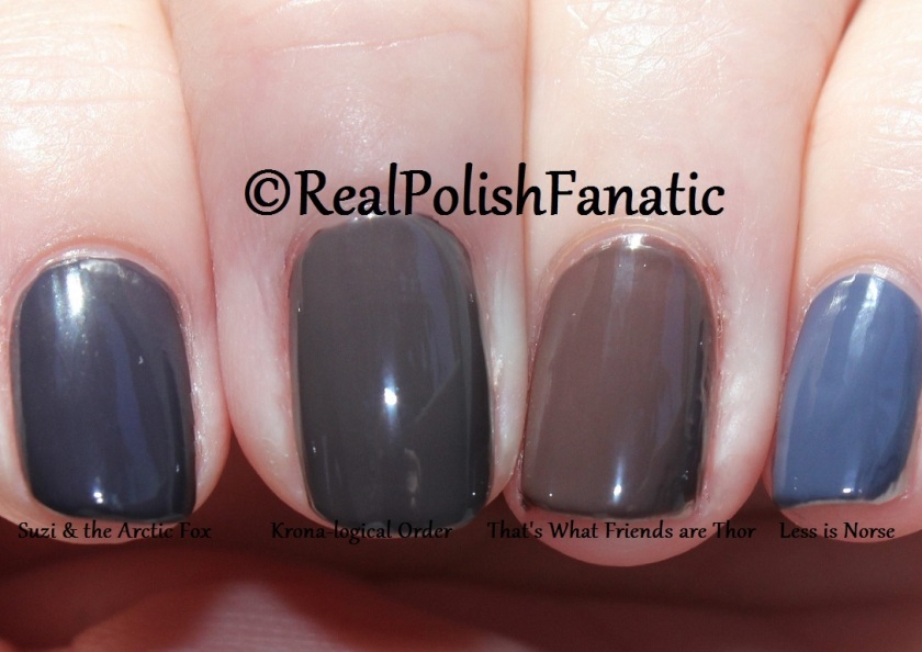 Comparison of 4 OPI Cremes (2)