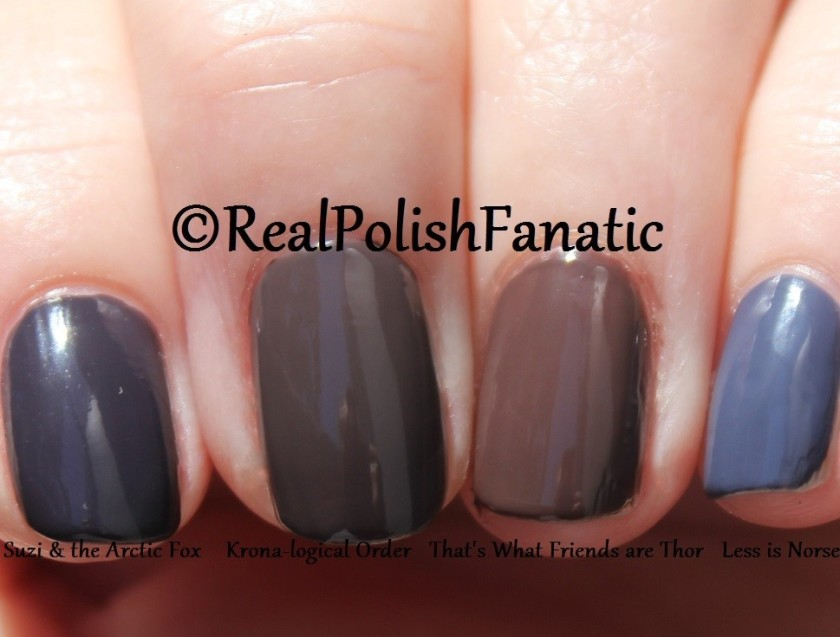 Comparison of 4 OPI Cremes