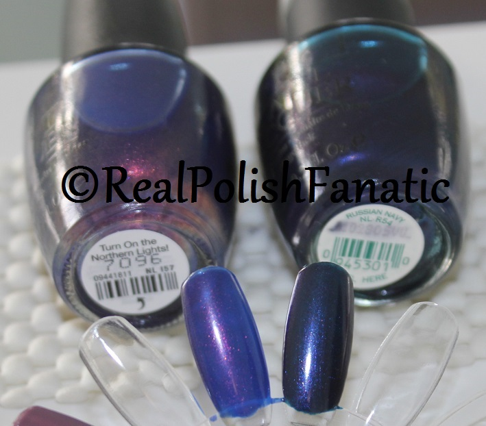Comparison - OPI Turn on the Northern Lights VS Russian Navy (1)