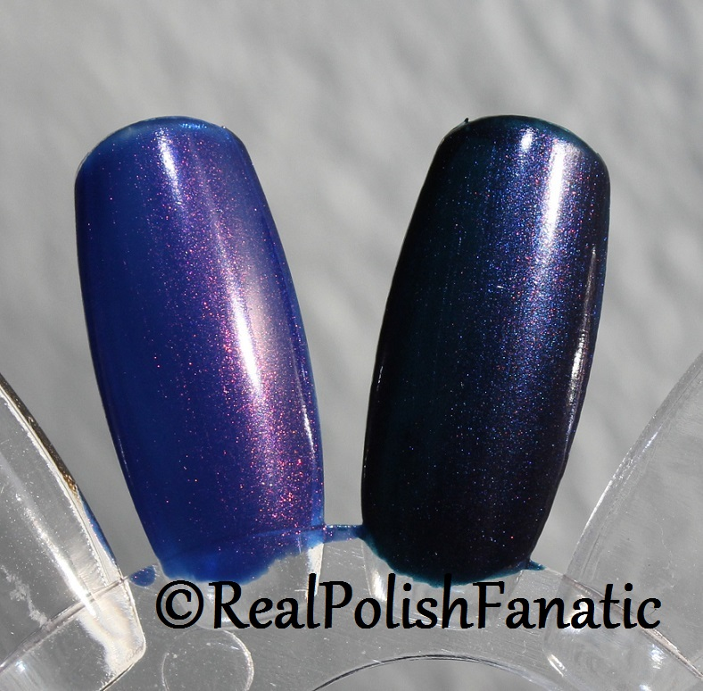 Comparison - OPI Turn on the Northern Lights VS Russian Navy (2)