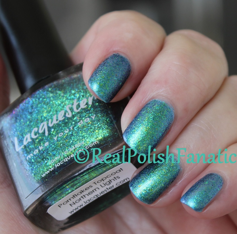 Updated Mani: Lacquester Pornflakes Topcoat Northern Lights added ...