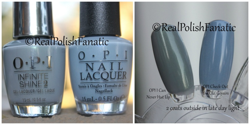 OPI Comparison - I Can Never Hut Up vs. Check Out the Old Geysirs
