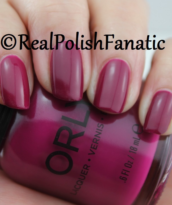 Orly Black Cherry -- Fall 2017 Velvet Dream Collection