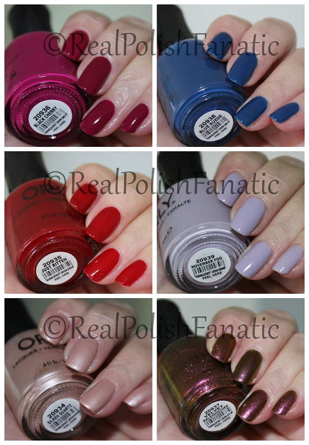 Orly Fall 2017 Velvet Dream Collection - with flash