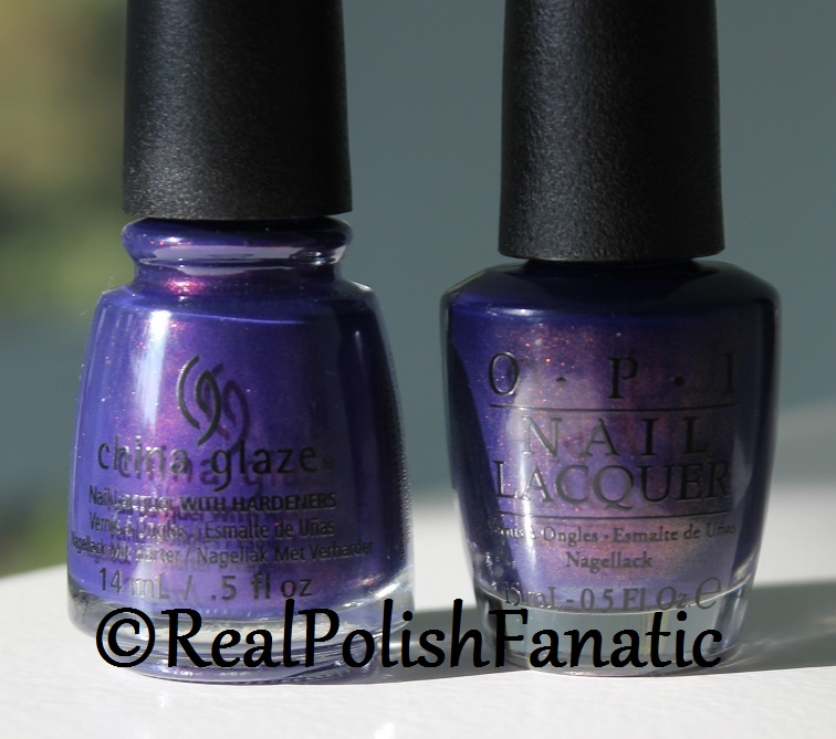 Comparison -- China Glaze Crown for Whatever VS OPI Turn On the Northern Lights (1)