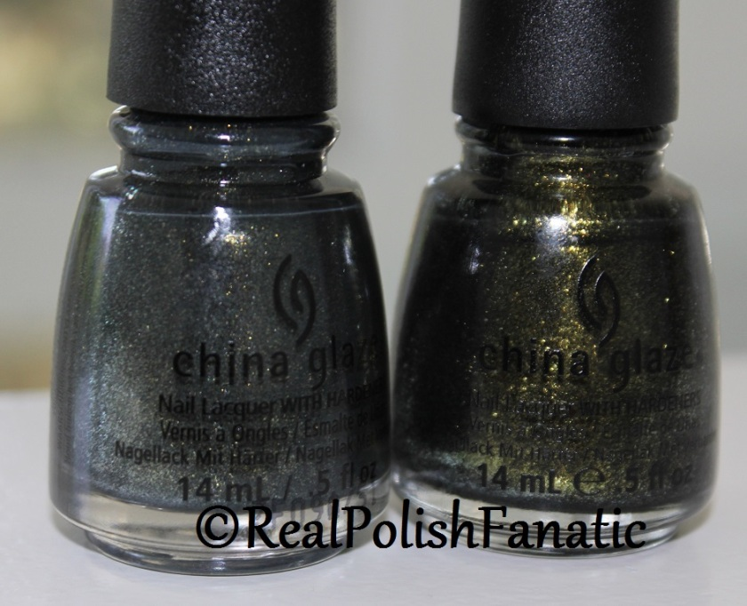 Comparison -- China Glaze Life's Grimm VS Cast A Spell (1)