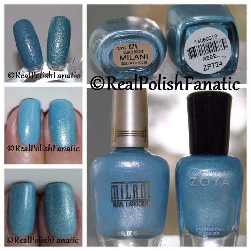 Comparison- Milani Beach Front vs Zoya Rebel