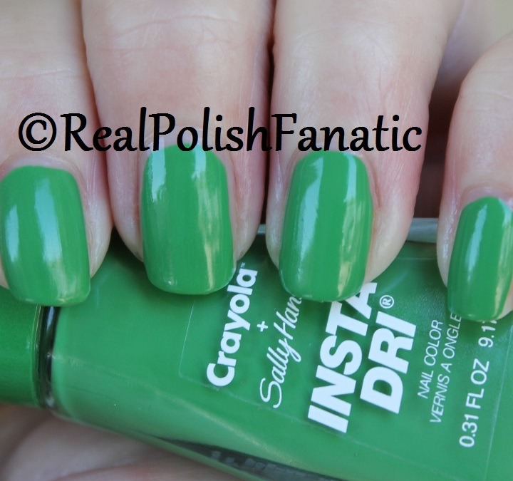 Sally Hansen - Granny Smith Apple -- Summer 2017 Crayola Collection (6)