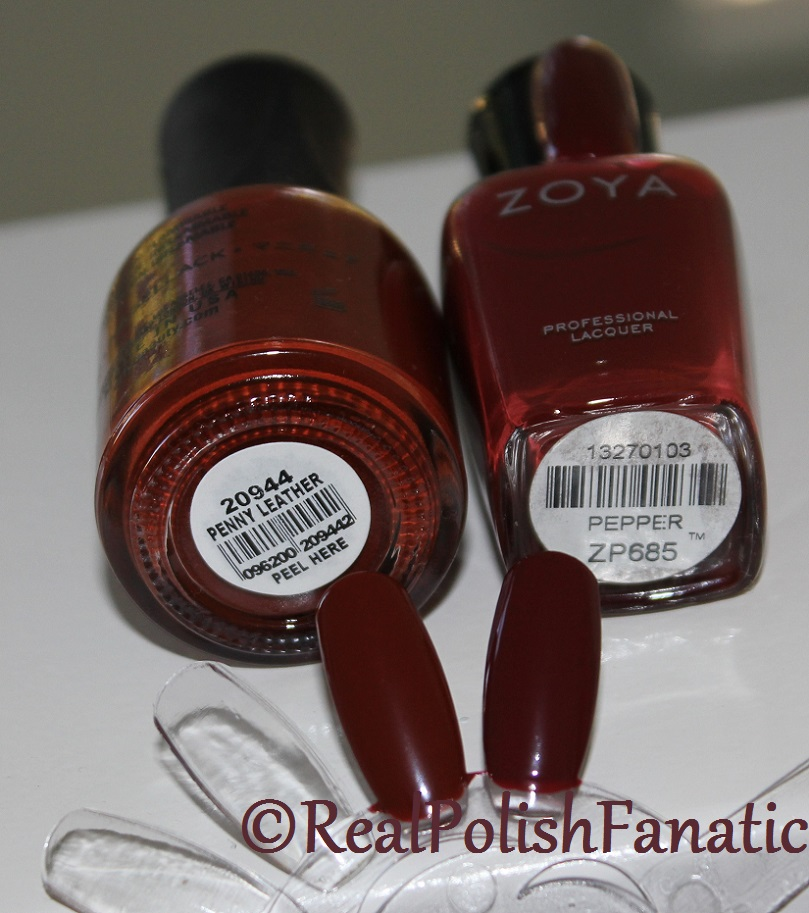 Comparison: Orly Penny Leather VS Zoya Pepper (1)