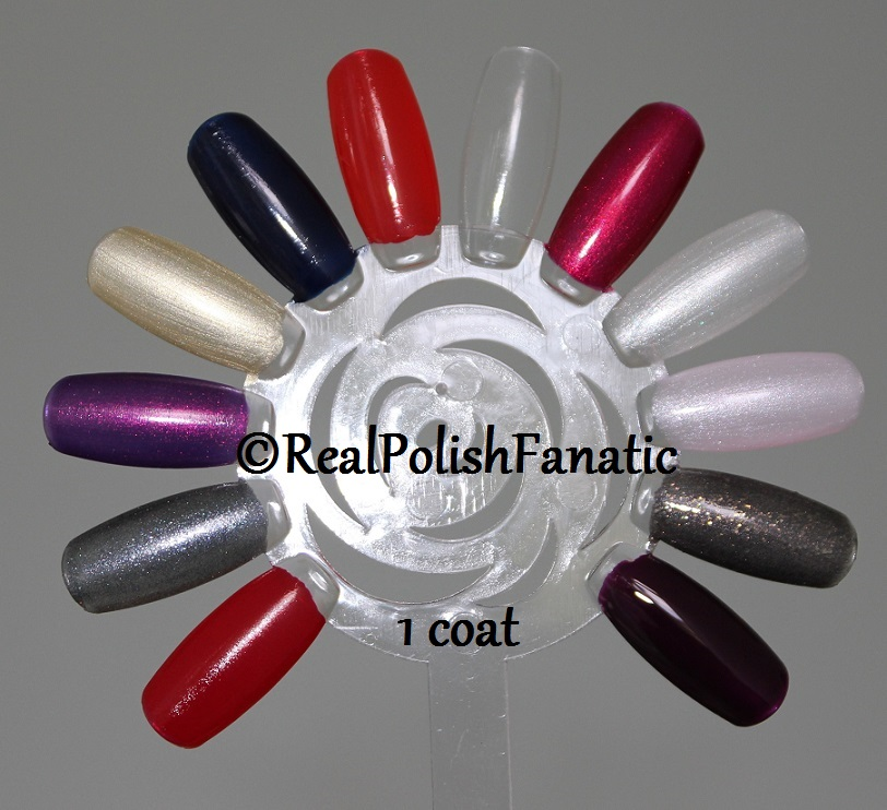 OPI XOXO Holiday 2017 Collection - 1 coat on swatch wheel (1)