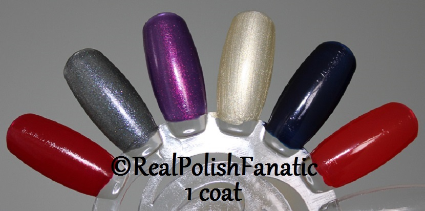 OPI XOXO Holiday 2017 Collection - 1 coat on swatch wheel (2)