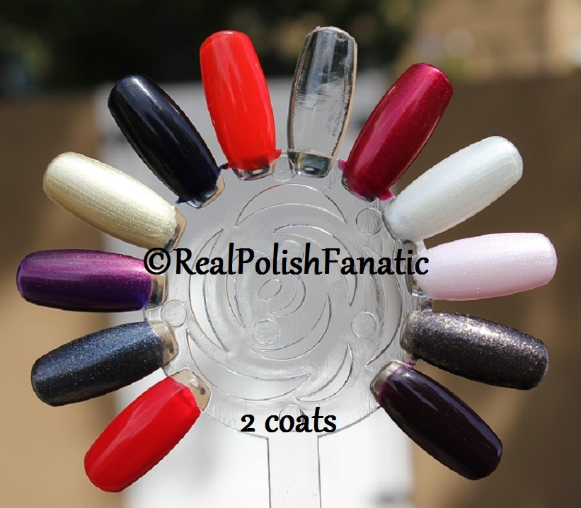 OPI XOXO Holiday 2017 Collection - 2 coats on swatch wheel (11)