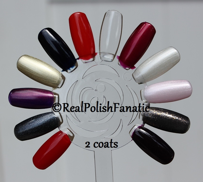 OPI XOXO Holiday 2017 Collection - 2 coats on swatch wheel (3)
