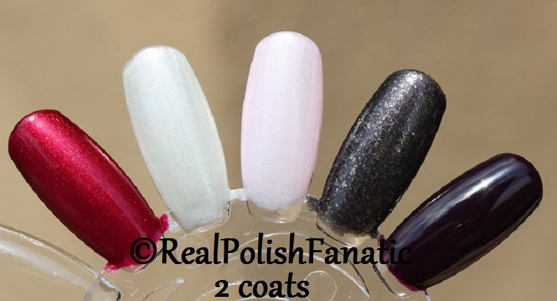 OPI XOXO Holiday 2017 Collection - 2 coats on swatch wheel (6)