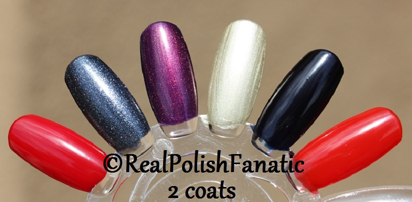 OPI XOXO Holiday 2017 Collection - 2 coats on swatch wheel (8)