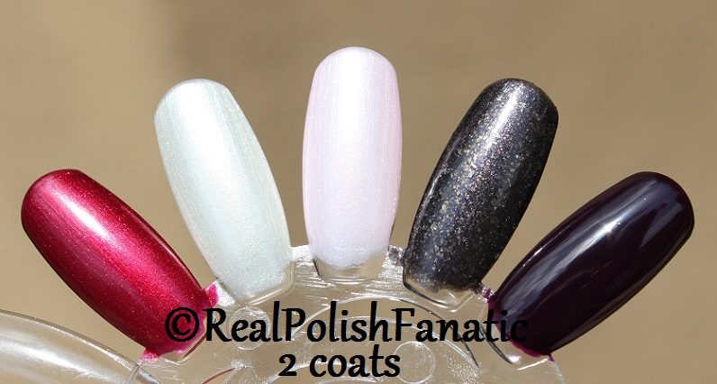 OPI XOXO Holiday 2017 Collection - 2 coats on swatch wheel (9)