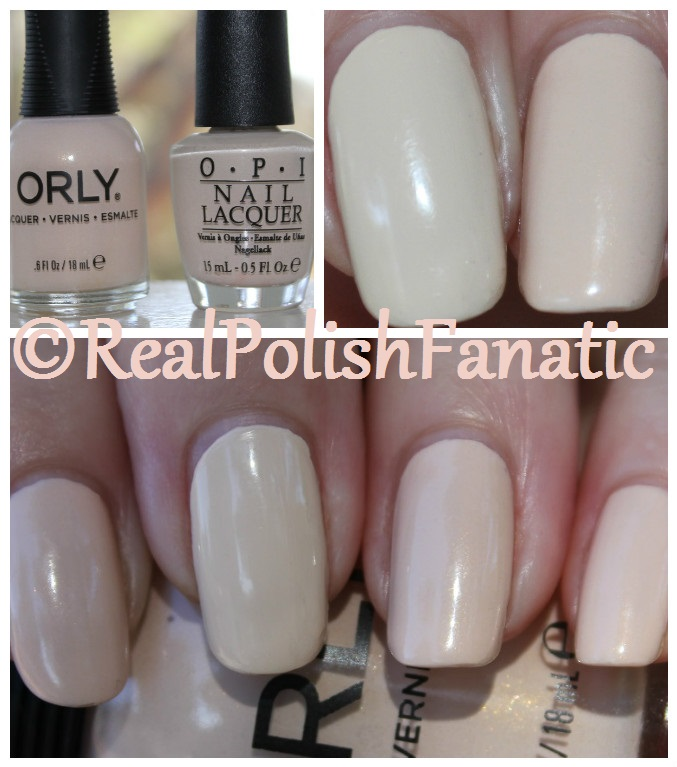 Orly Faux Pearl with OPI My Vampire Is Buff comparison