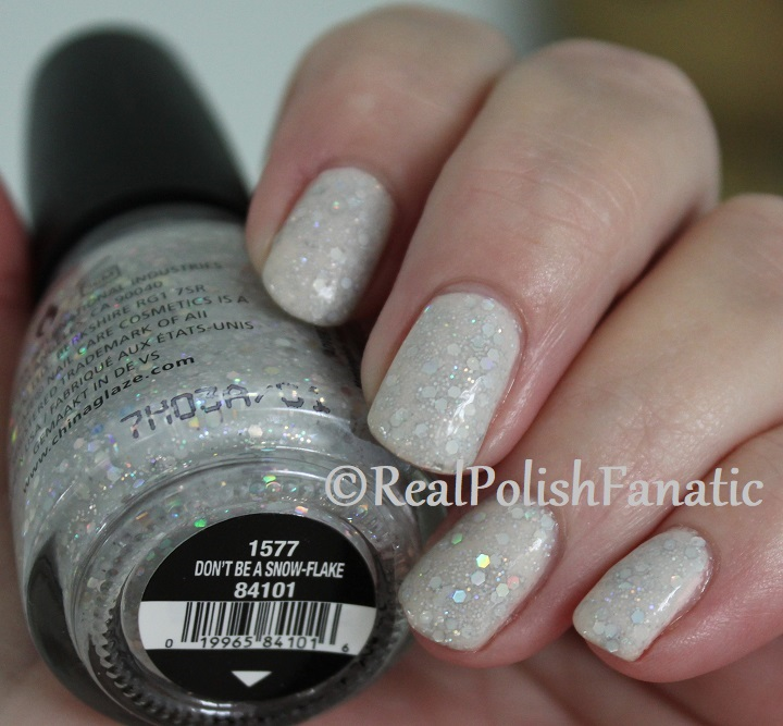 China Glaze _ Don't Be A Snow-flake -- Holiday 2017 The Glam Finale Collection (11)