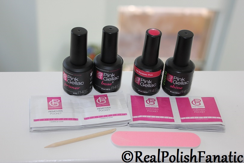 Pink Gellac Starter System Review with Dynamic Pink Gel Color (5)