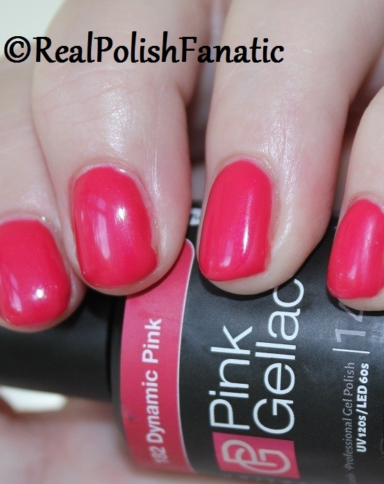 Pink Gellac Starter System Review with Dynamic Pink Gel Color (9)