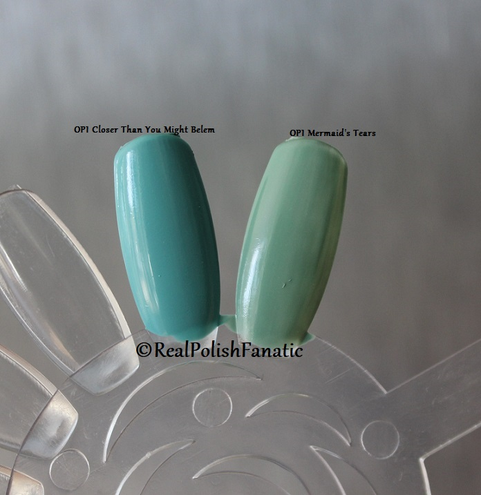 Comparison -- OPI Closer Than You Might Belem vs. OPI Mermaid's Tears (6)
