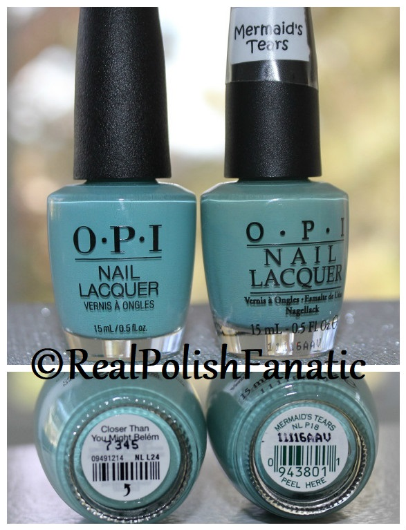 Comparison -- OPI Closer Than You Might Belem vs. OPI Mermaid's Tears (7)