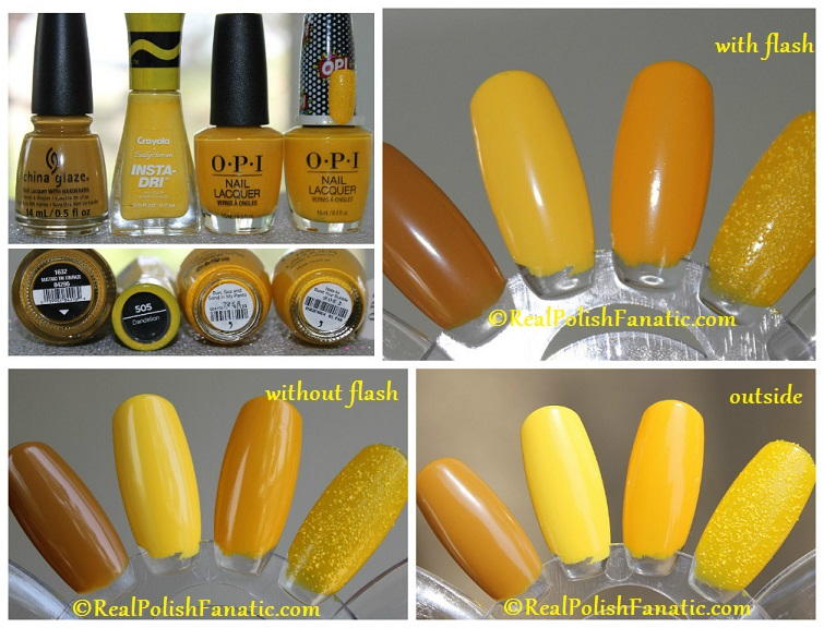Darker Yellow Comparisons